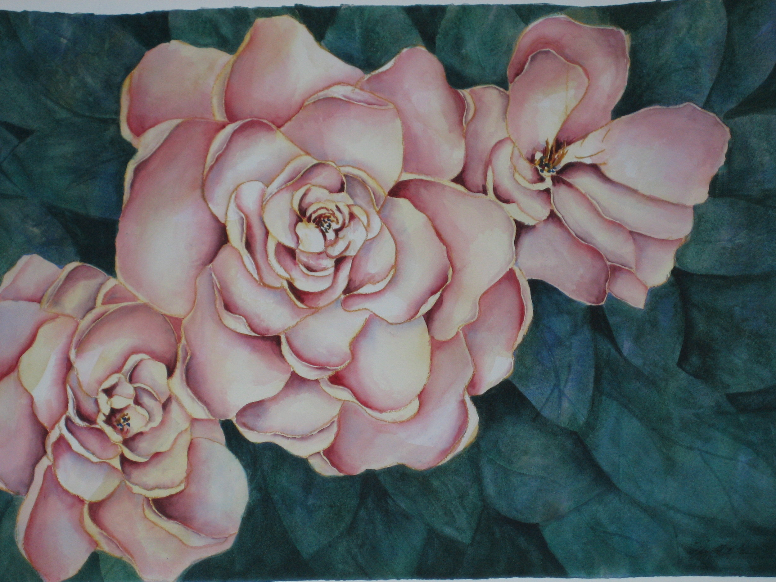 "#44 ""Pink Roses"" $375"