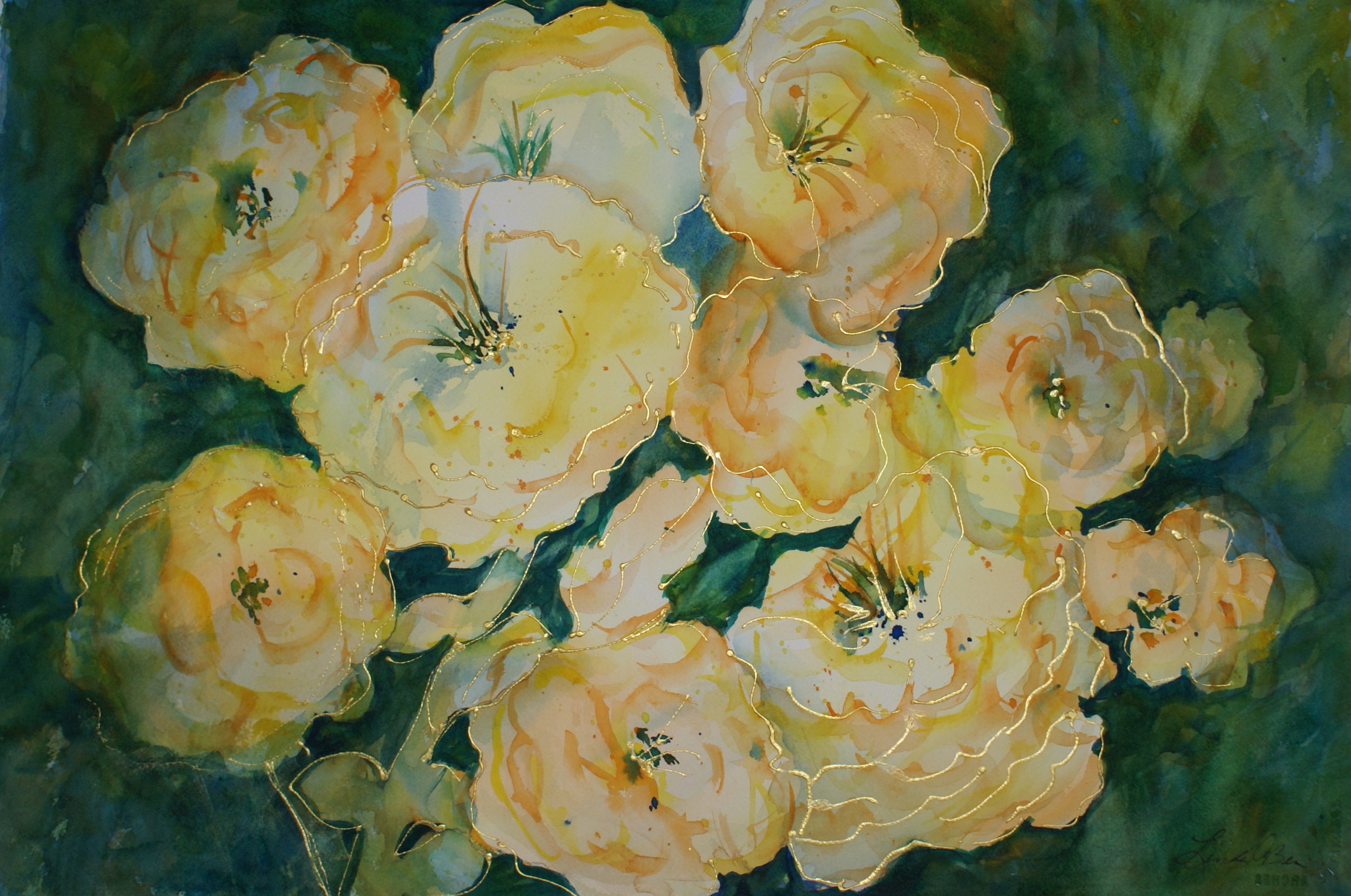"#45 ""Yellow Flowers"" $375"
