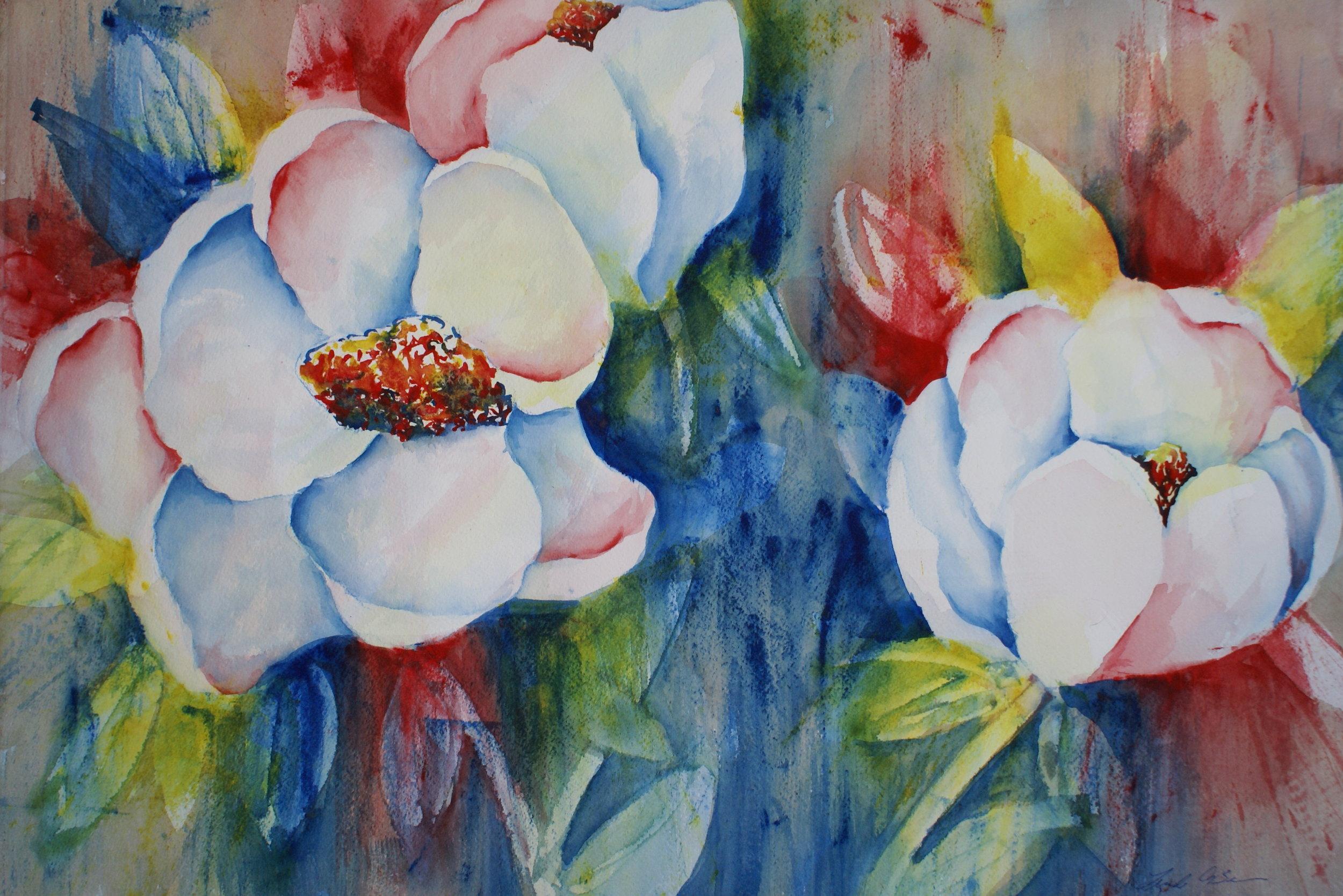"#47 ""Patriotic Magnolias"" $375"