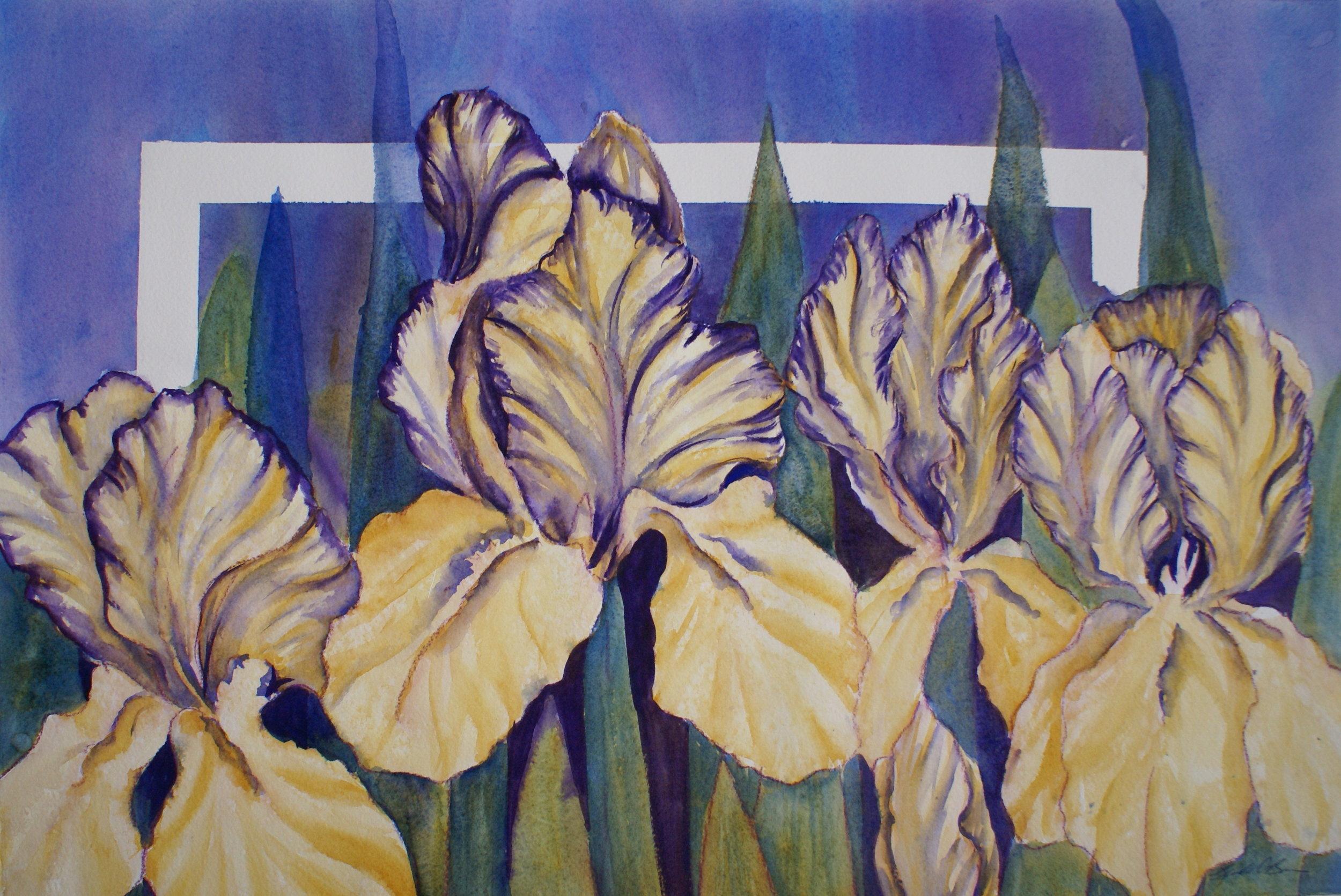 "#37 ""Varigated Iris"" $375"