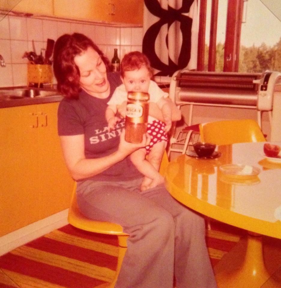 Baby Sennu with Äiti (mom)