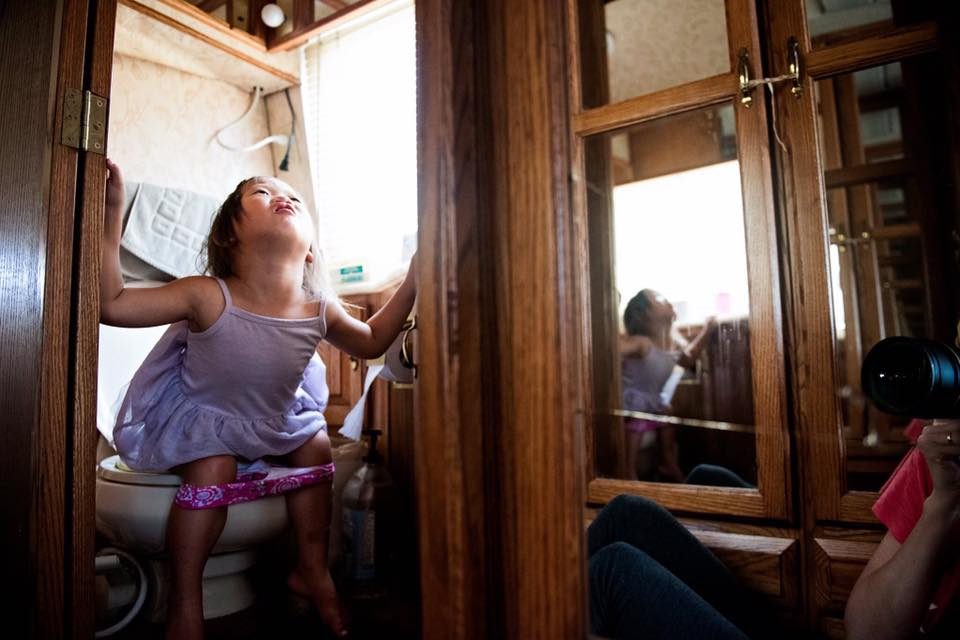 Surviving potty training, in an RV...