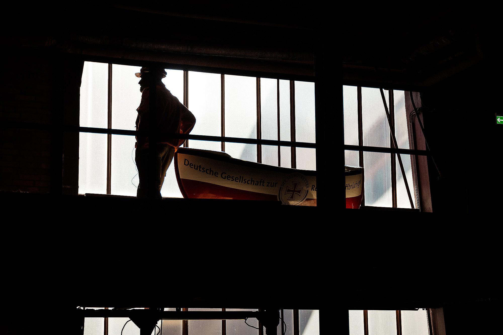 Im Westen viel Neues: zum Beispiel ein 2,4 Meter großes Sammelschiffchen der Seenotretter zu Gast in der Zeche Zollverein in Essen.