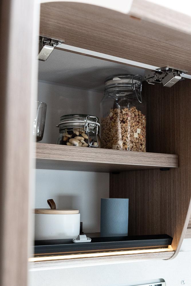 Küche mit Staufach