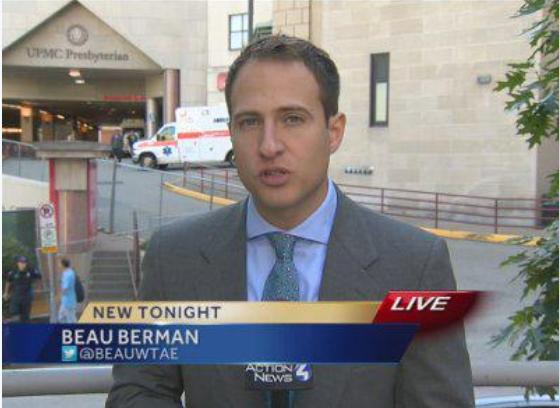 Reporting in Pittsburgh's Oakland neighborhood in 2016