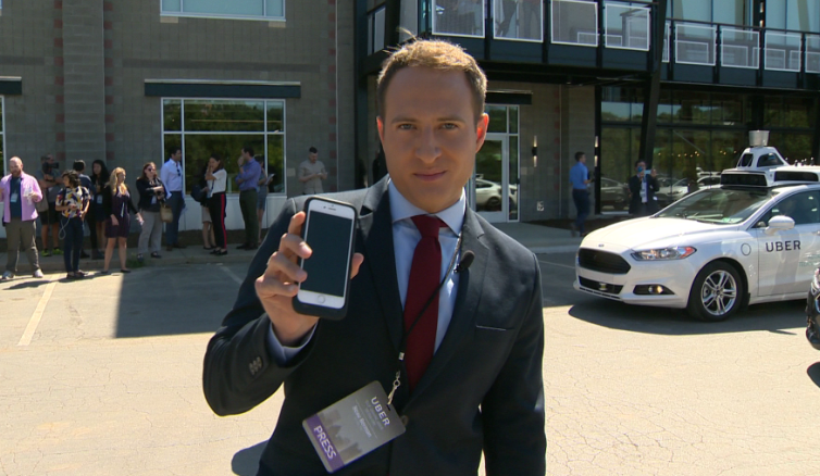 UBER self-driving car launch