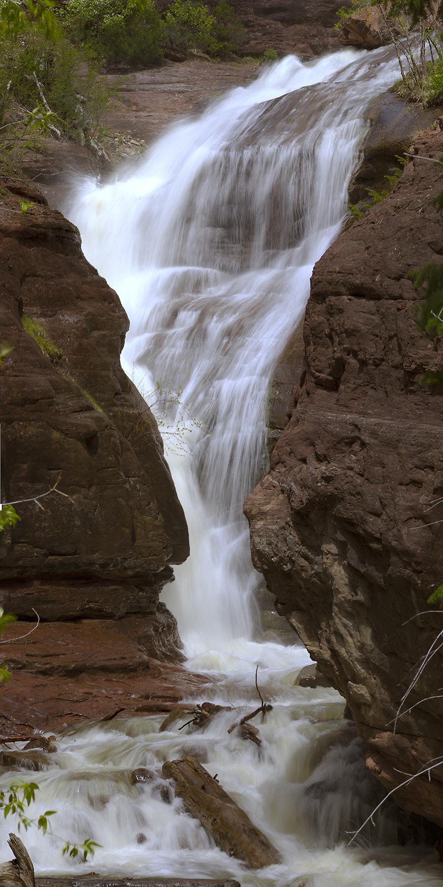 Hays Creek Falls Vertical Pano