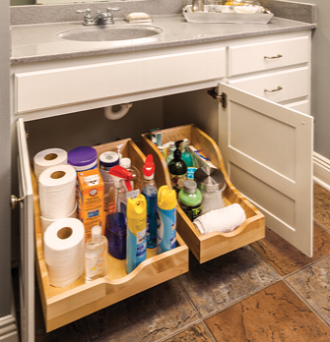 BATHROOM CABINET PULL OUT DRAWERS