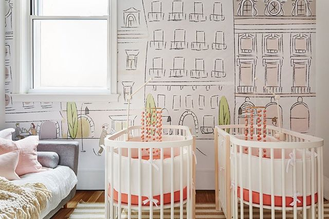 My Parisian nursery for @leandramcohen 💗 📷 @seth_caplan #mydecorist is #throwbacktuesday a thing? Also, love you @anewalldecor 👋🏼