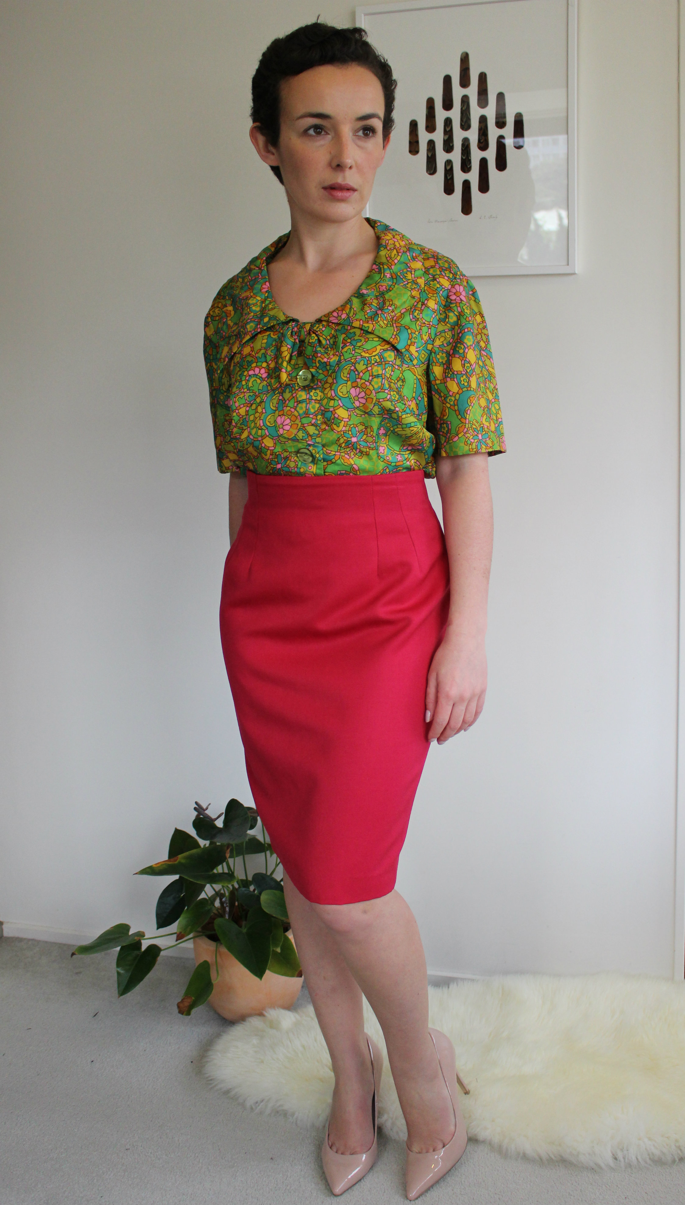 Skirt: Gilles Dewavrin via SaveMart; Blouse: Lorna Cooper for Selby via Thrift