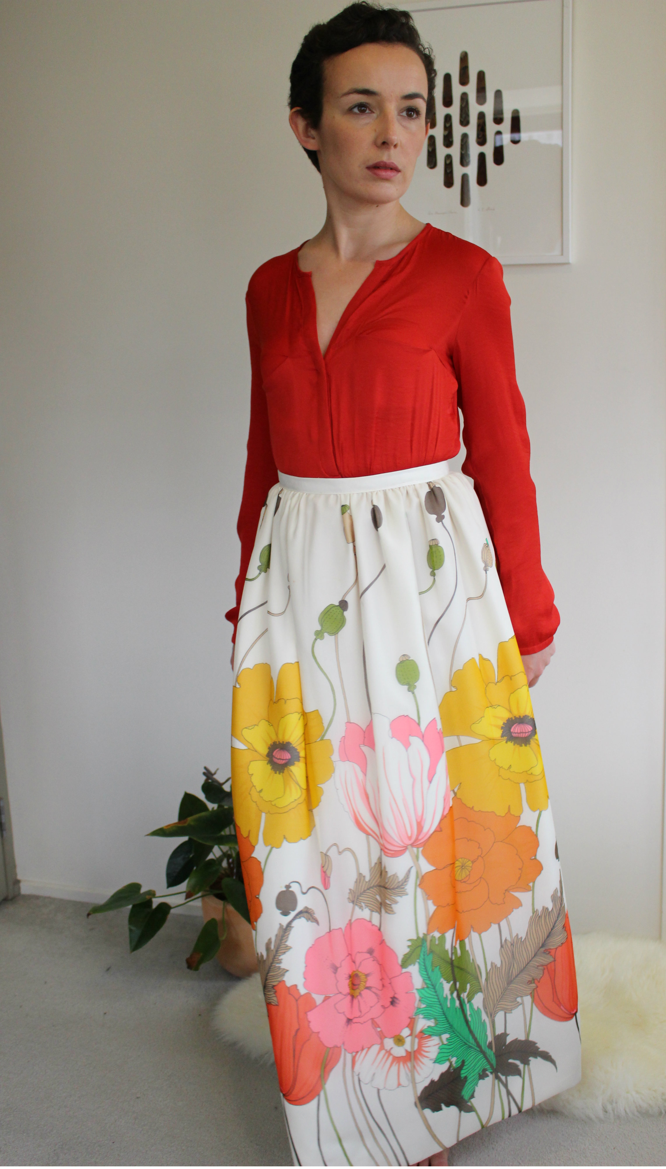Blouse: Trafaluc (Zara) via Recycle Boutique, Skirt: no label via Thrift