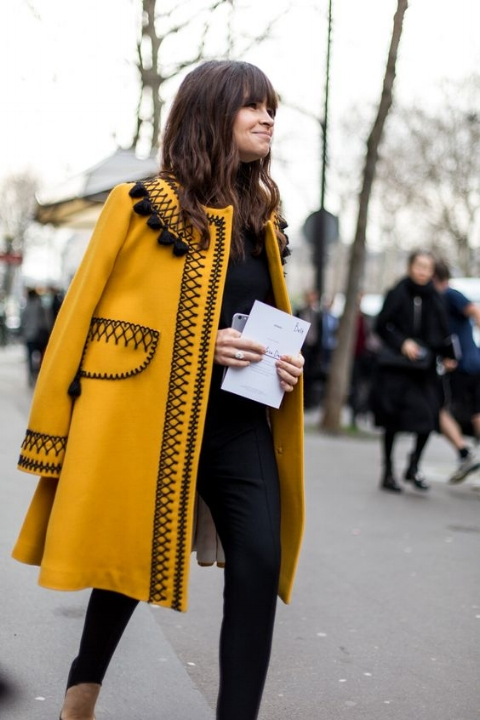 Invest in a statement coat now, for months of throwing it on over blah outfits