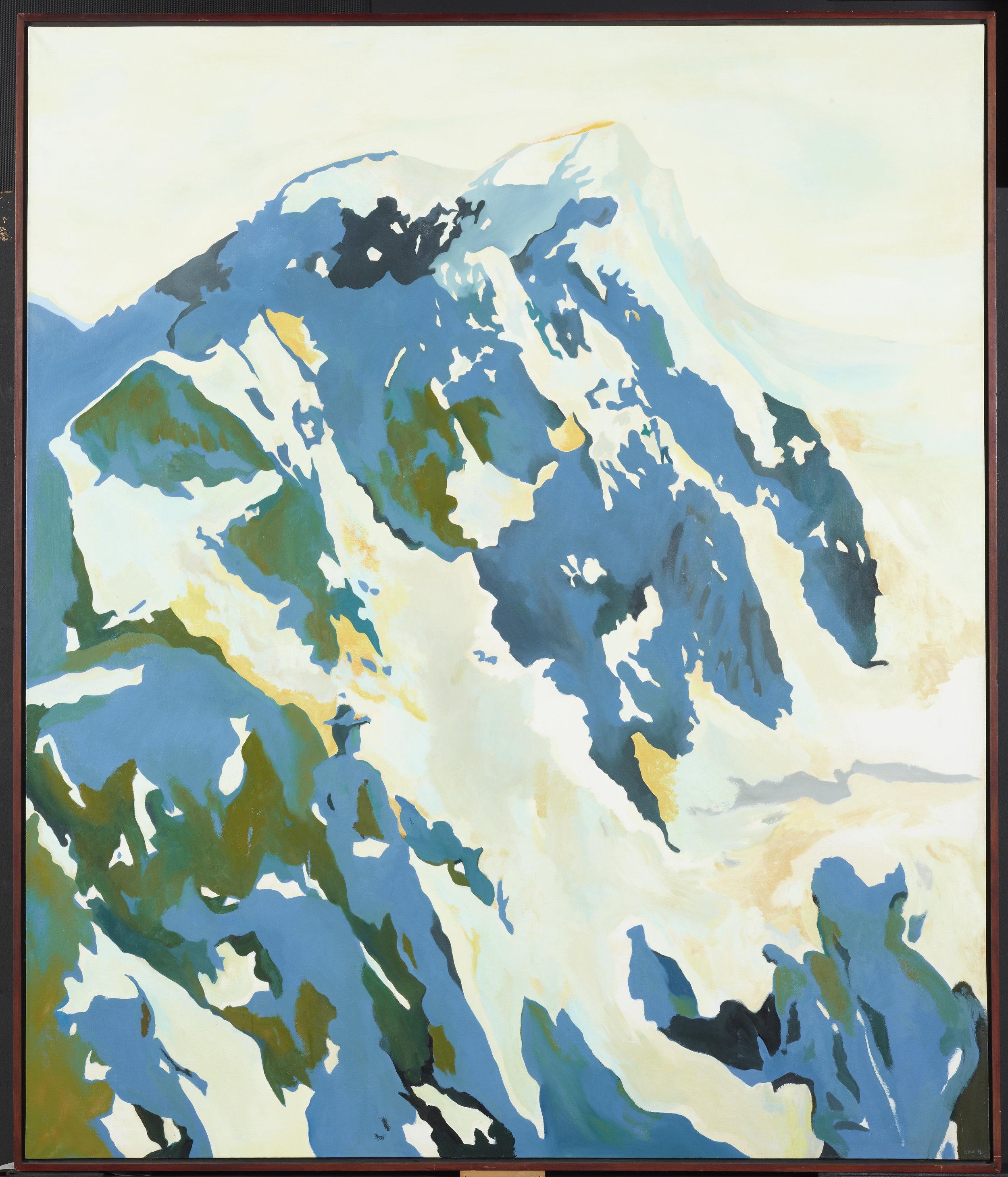 Sing Tai Wong,   Man in the mountains   ,  circa 1972. Te Papa