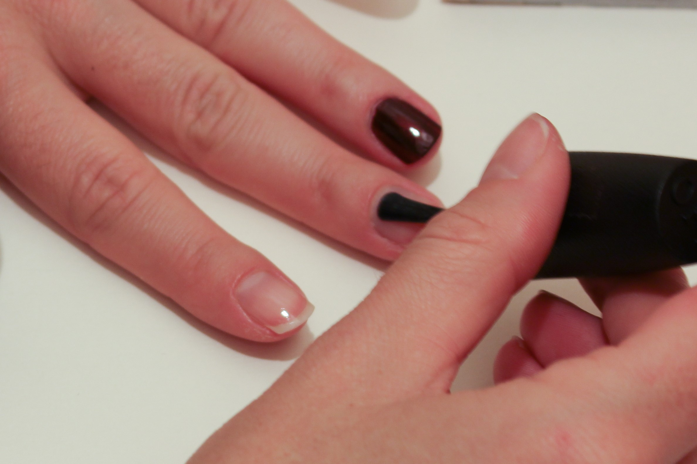 Yes, that nail is a different colour. I thought I was going to do something arty and then I couldn't be faffed