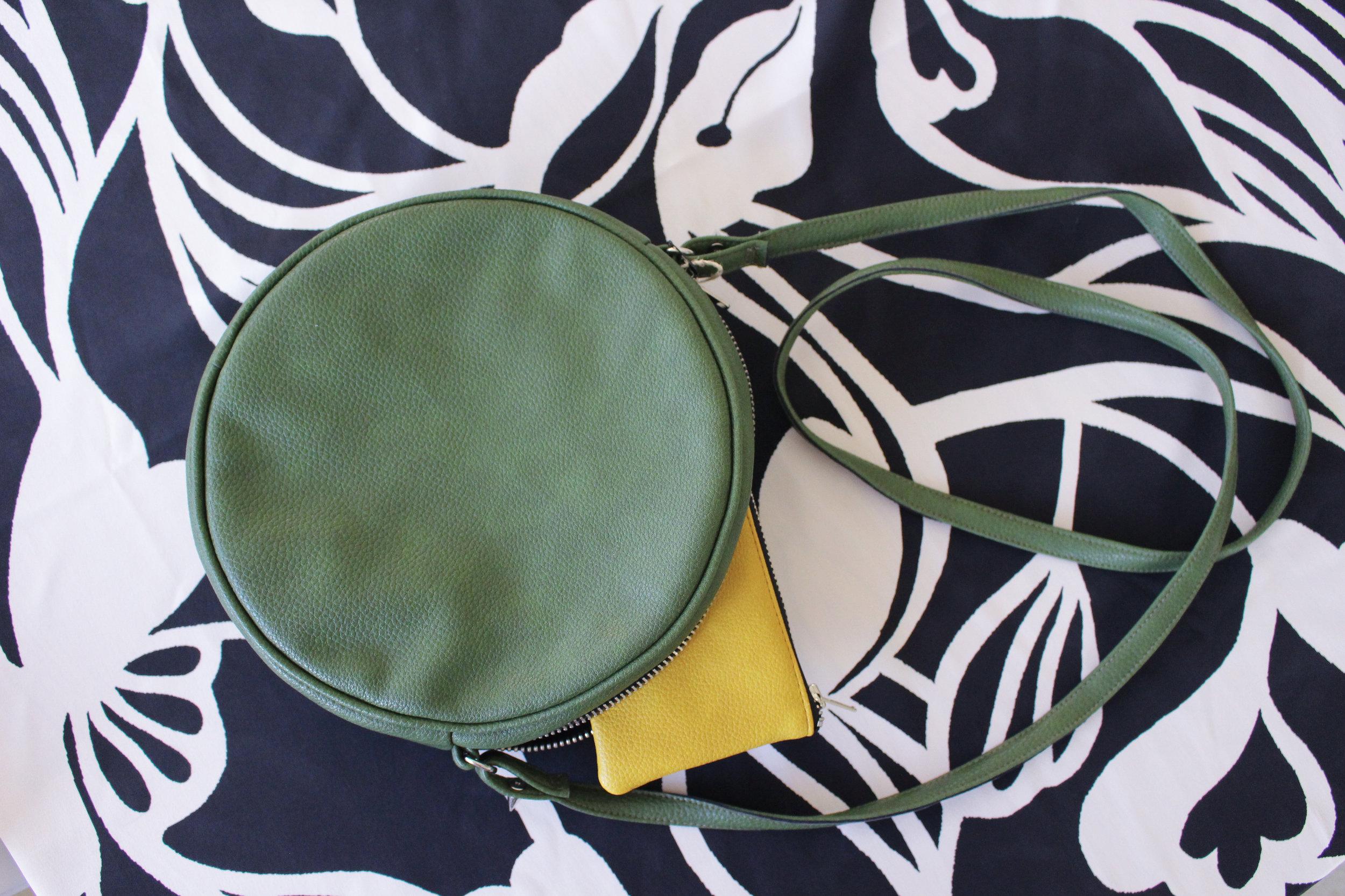 Chloe Vegan Leather Crossbody Bag and  Mini Card Wallet in mustard