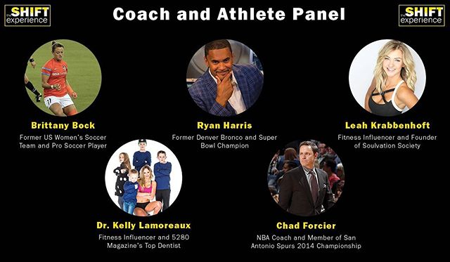 This panel is going to be epic!  Less than 5 tickets left...1 week from today, you will wish you had attended!  The Shift Experience - May 15 & 16 https://www.experiencetheshift.io/ #Health #fitness #mindset #mentaltoughness #performance #coach #athlete #shiftexperience