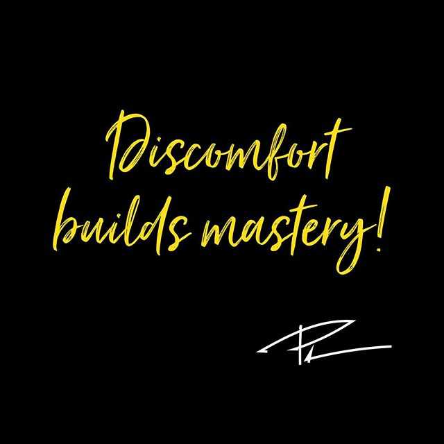 Get comfortable, being uncomfortable! That is where magic happens! #mentaltoughness #mindset #mindsetquotes #coaching #breakthrough #mastery #quote