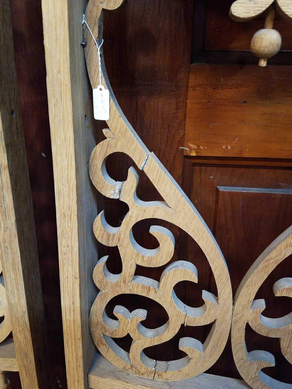 architectural salvage fretwork Set of 5 small wooden spindles