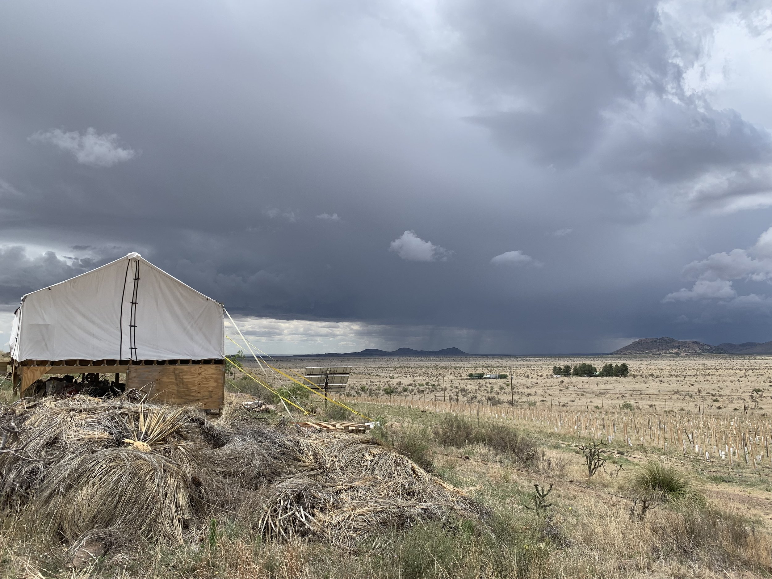 We watched several of the big storms approach from a long way off.
