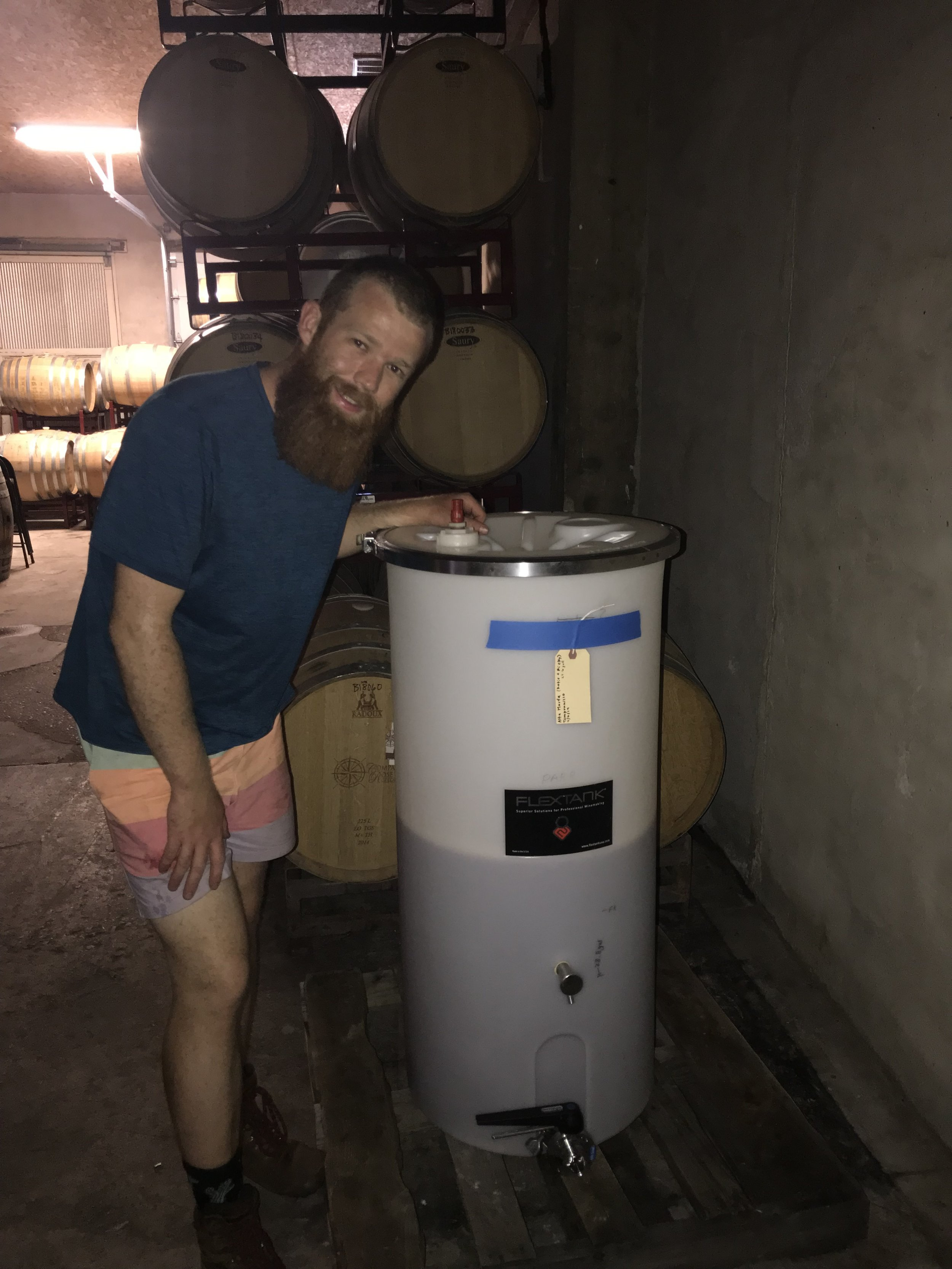 Our 29 gallons of Tempranillo rosé
