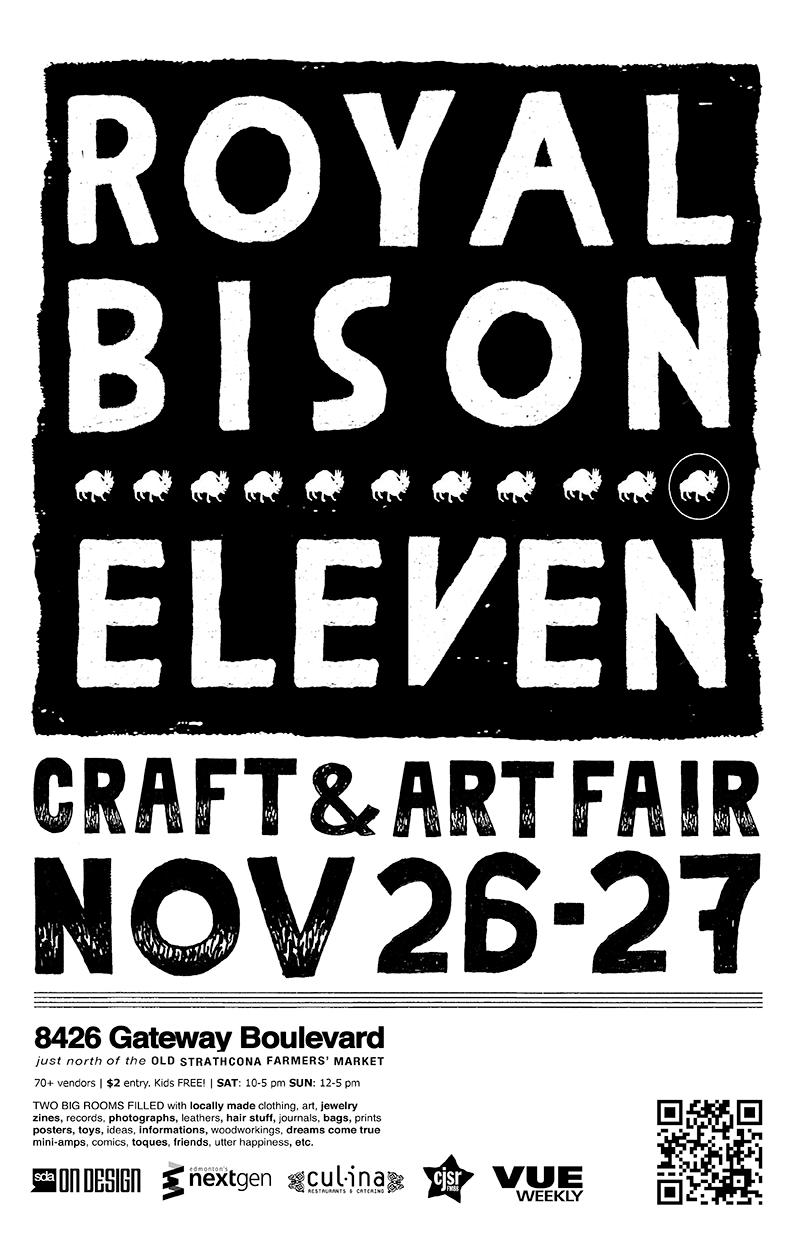 2010 finds the fair in the hands of illustrator Josh Holinaty, jeweller Jeanie Andronyk, and designer Vikki Wiercinski. Winter 2011 poster.