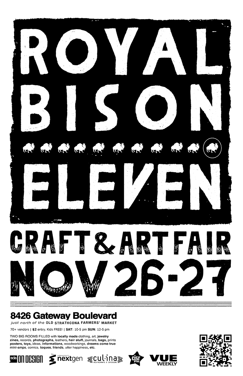2010 finds the fair in the hands of illustrator Josh Holinaty, jeweller Jeanie Andronyk, and designer Vikki Wiercinski. Winter 2011 poster.