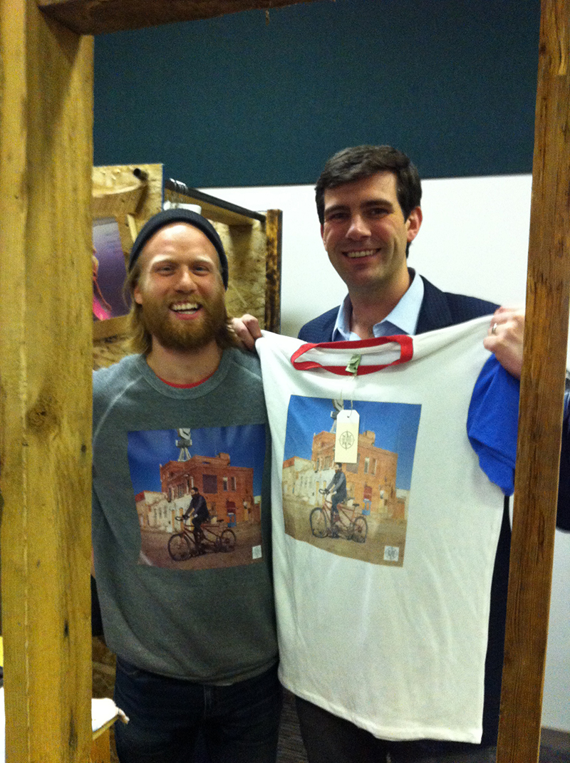 Newly minted Edmonton mayor Don Iveson comes for a visit!