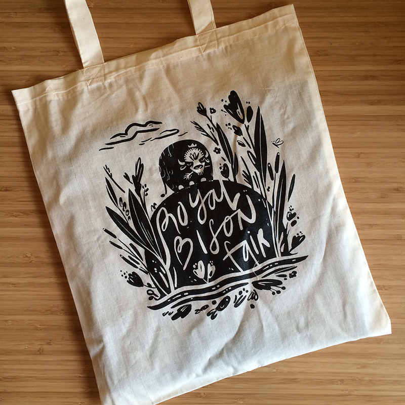 2015 artist designed tote bag by Emily Chu.
