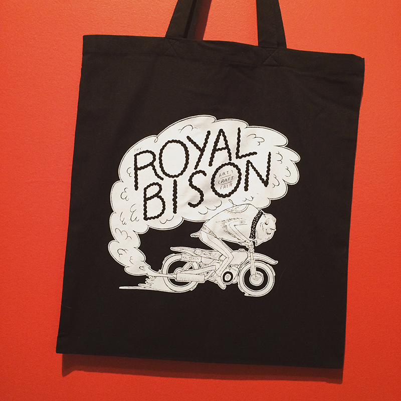 2015 artist designed tote bag by Hamburger Hands/Kyle Schnieder!