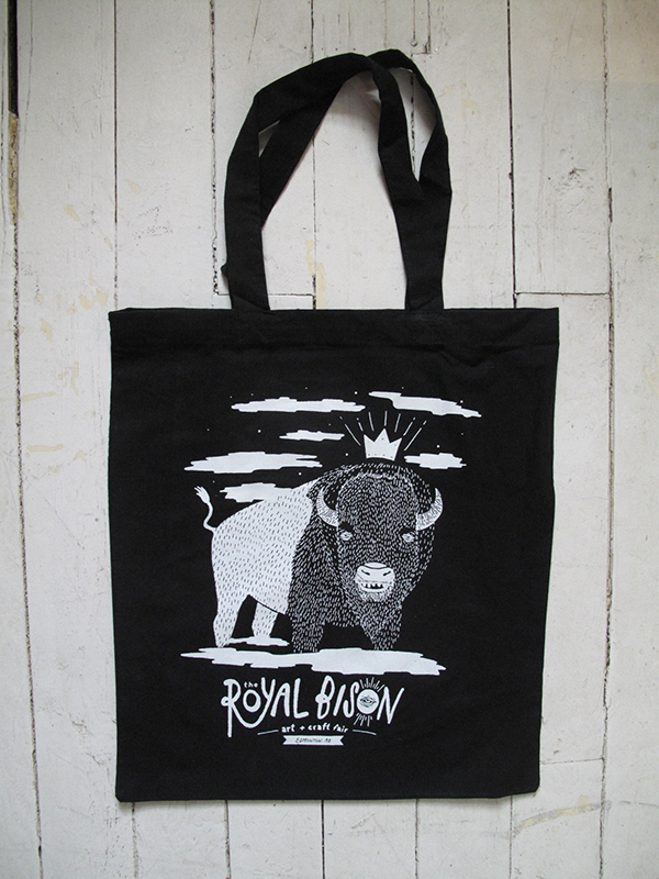 Artist designed tote bag by Andrew Benson!
