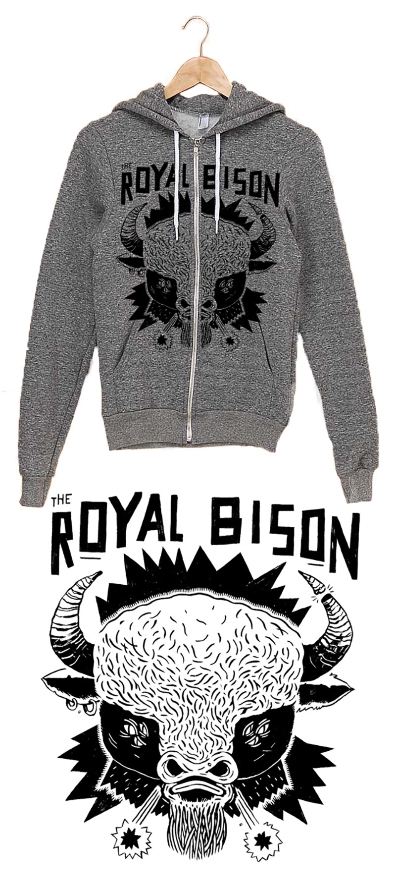 Artist designed hoodie by Josh Holinaty!