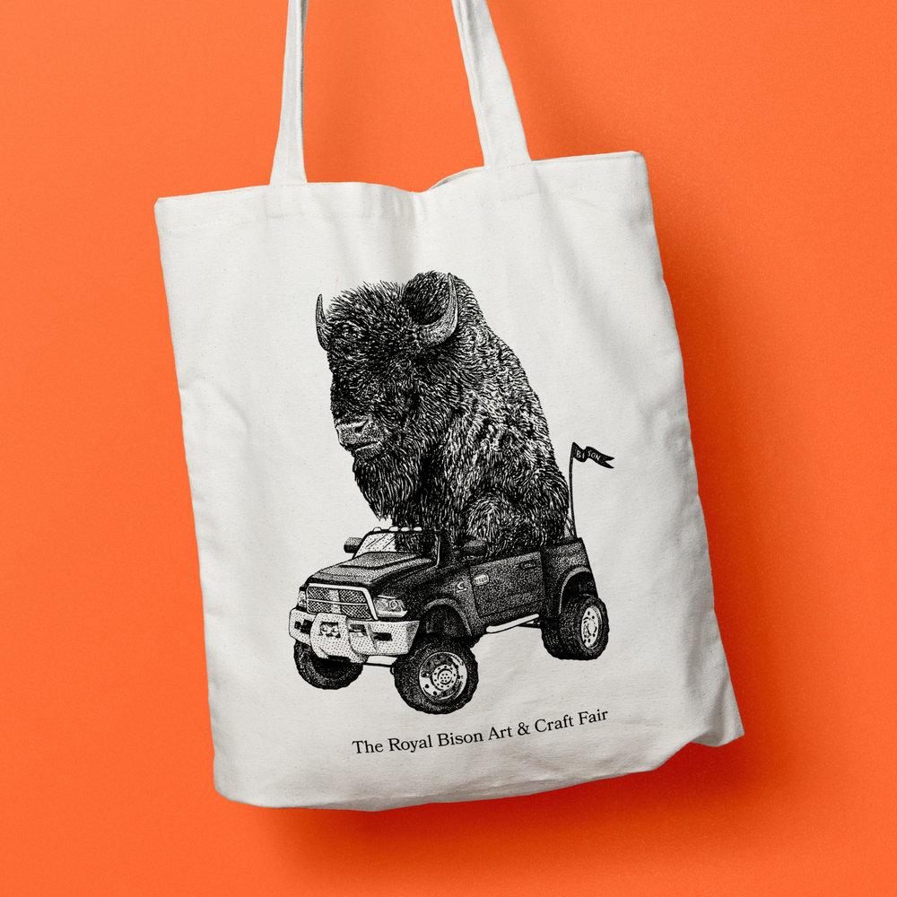 Nov 2017 artist designed tote bag by Jordan Blackburn.