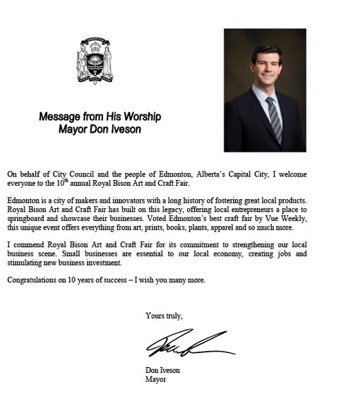 Mayor Don Iveson too! Aw shucks, this Bison is blushing!