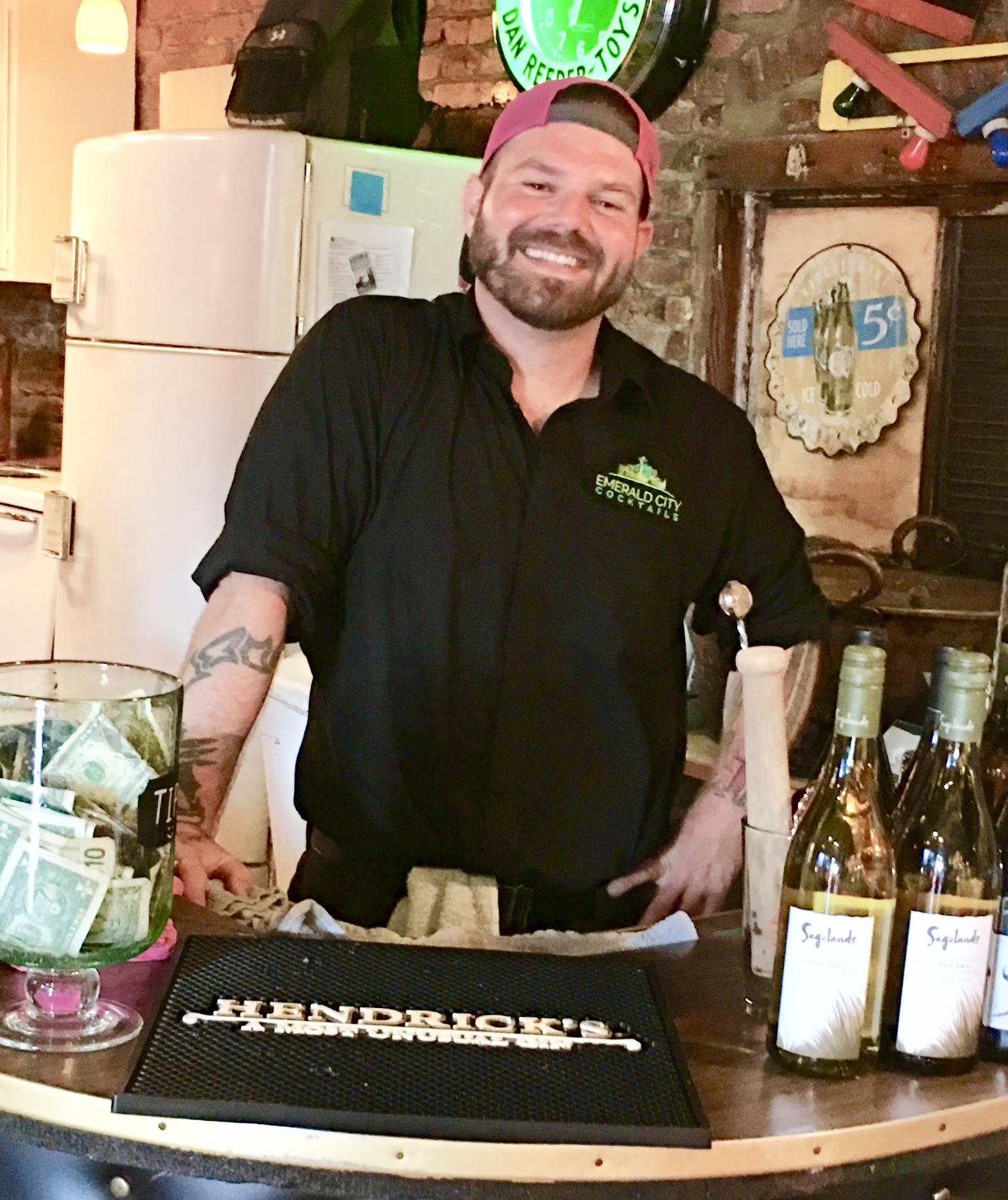 Owner Neil Ratliff of Emerald City Cocktails