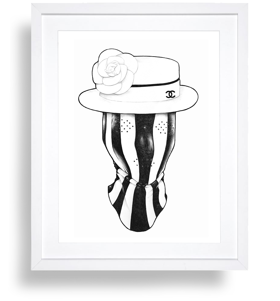 BBKUNST_BRYAN_BARNES_FINE_ARTIST_PENCIL-DRAWING_COCO-CHANEL-WHITE-FRAME-MOCKUP_082519.png