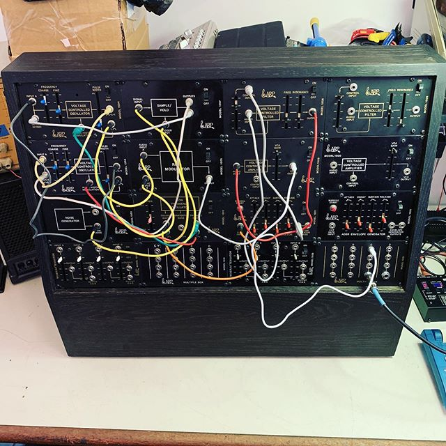 ARP MSL modular getting picked up today. Custom case and mounting courtesy of @tcbrownell