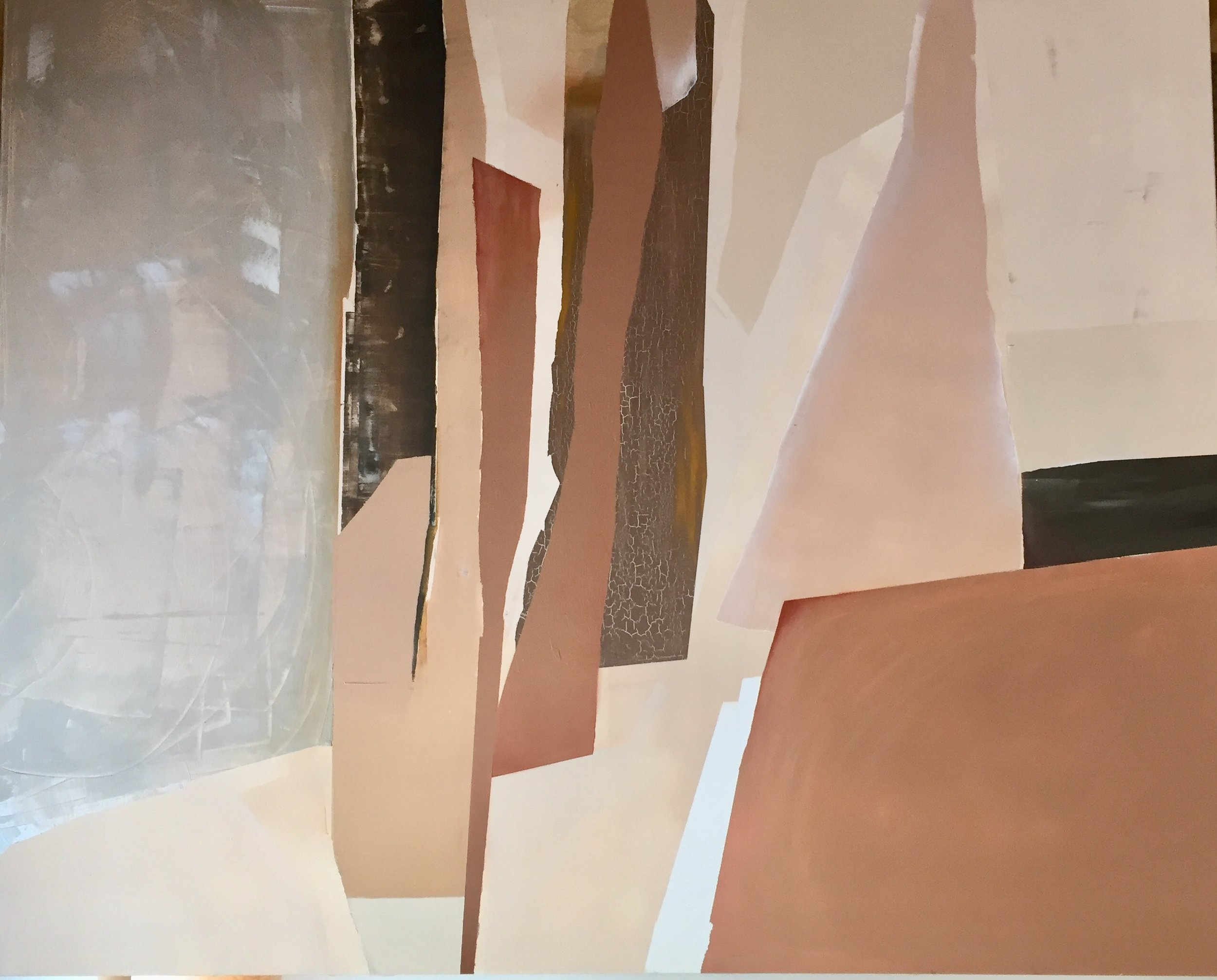 'Canyon Concepts' | 5 ft x 4 ft | spray paint, acrylic, oil crayon, oil pastel on linen