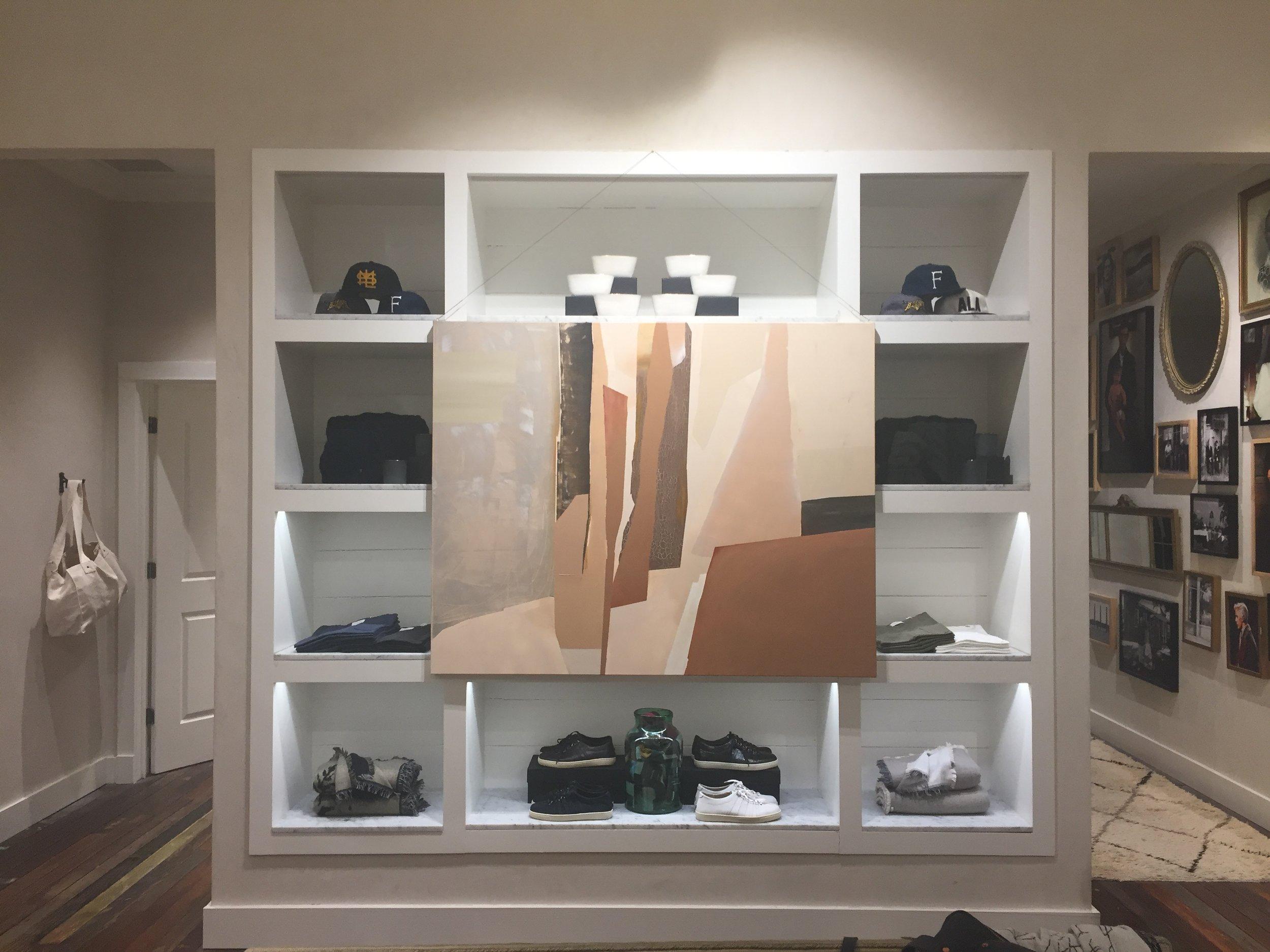 installation at Billy Reid, Buckhead, Atlanta 11.09
