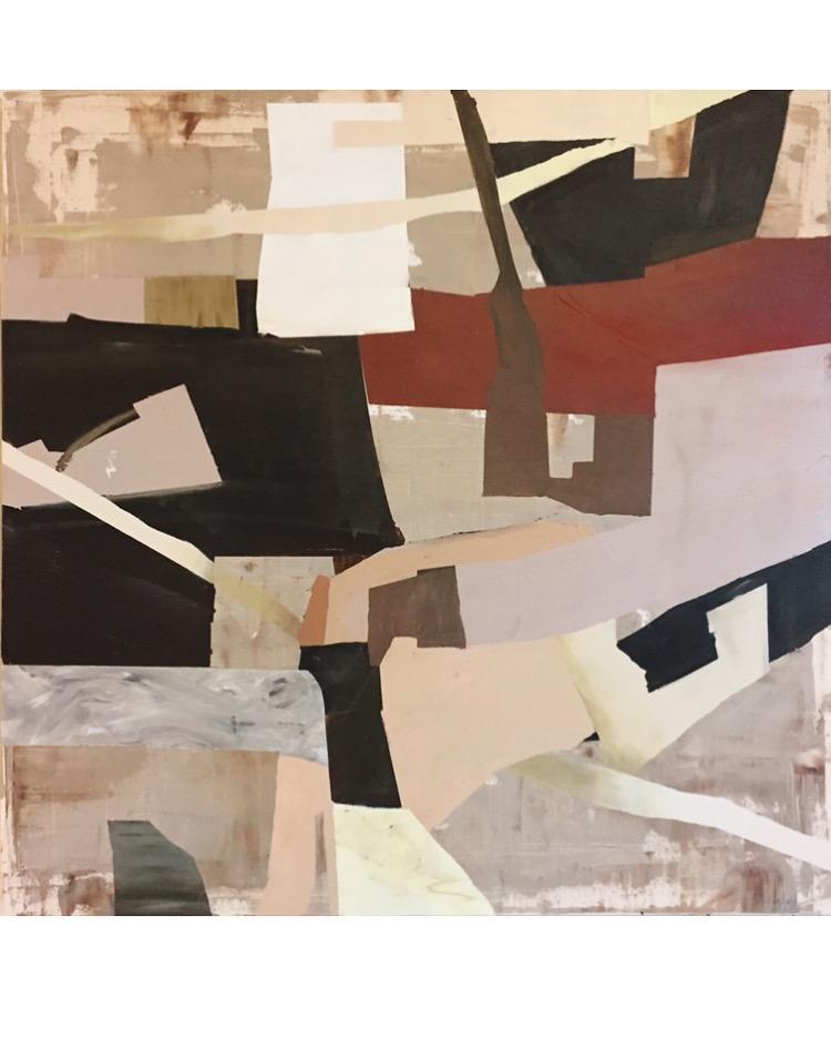 'boundaries' | 36 x 36 on canvas | acrylic, spray, oil pastel