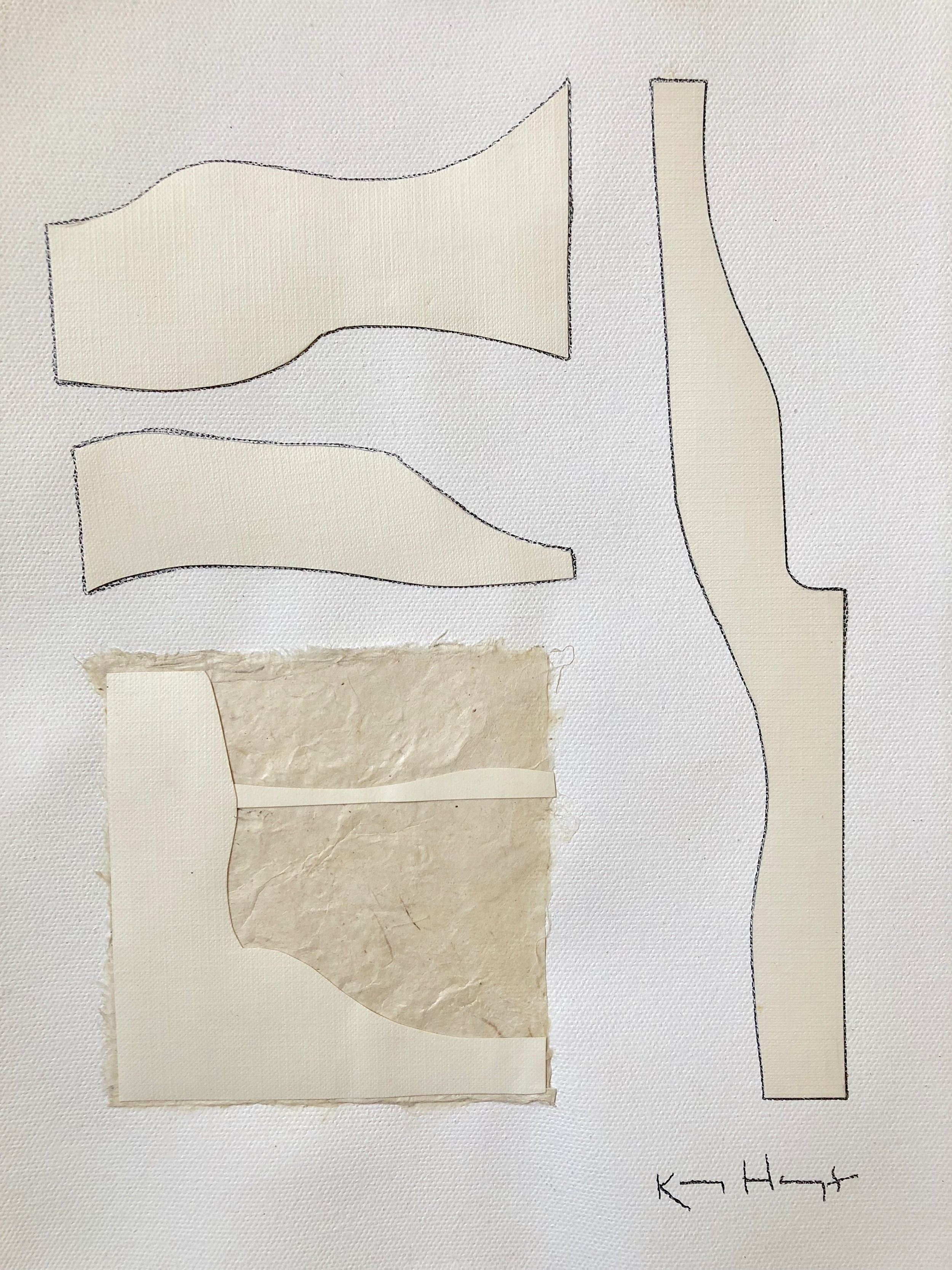 sculptures III, 9x12, paper and graphite on canvas sheet, 95.jpg