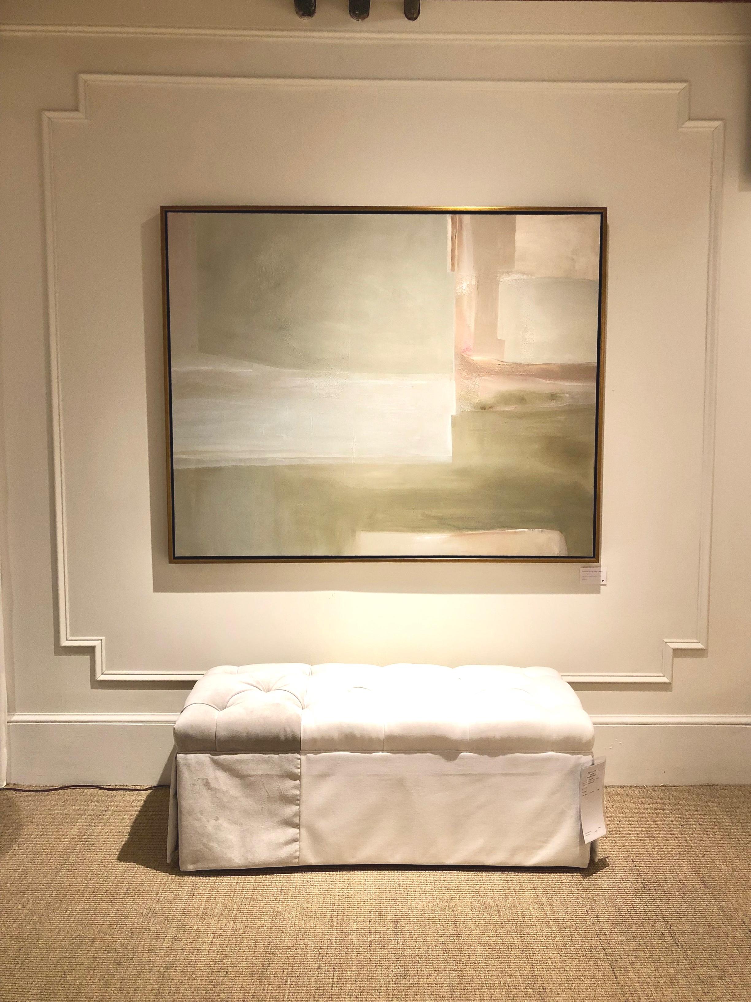 48x60, vertical or horizontal, custom framed in antique gold canvas floater frame, $3200