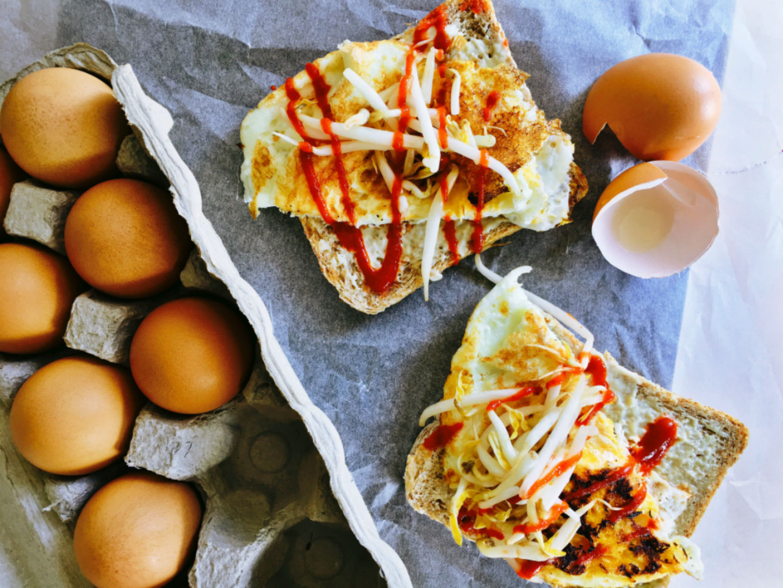 tahini-fried-egg-toast