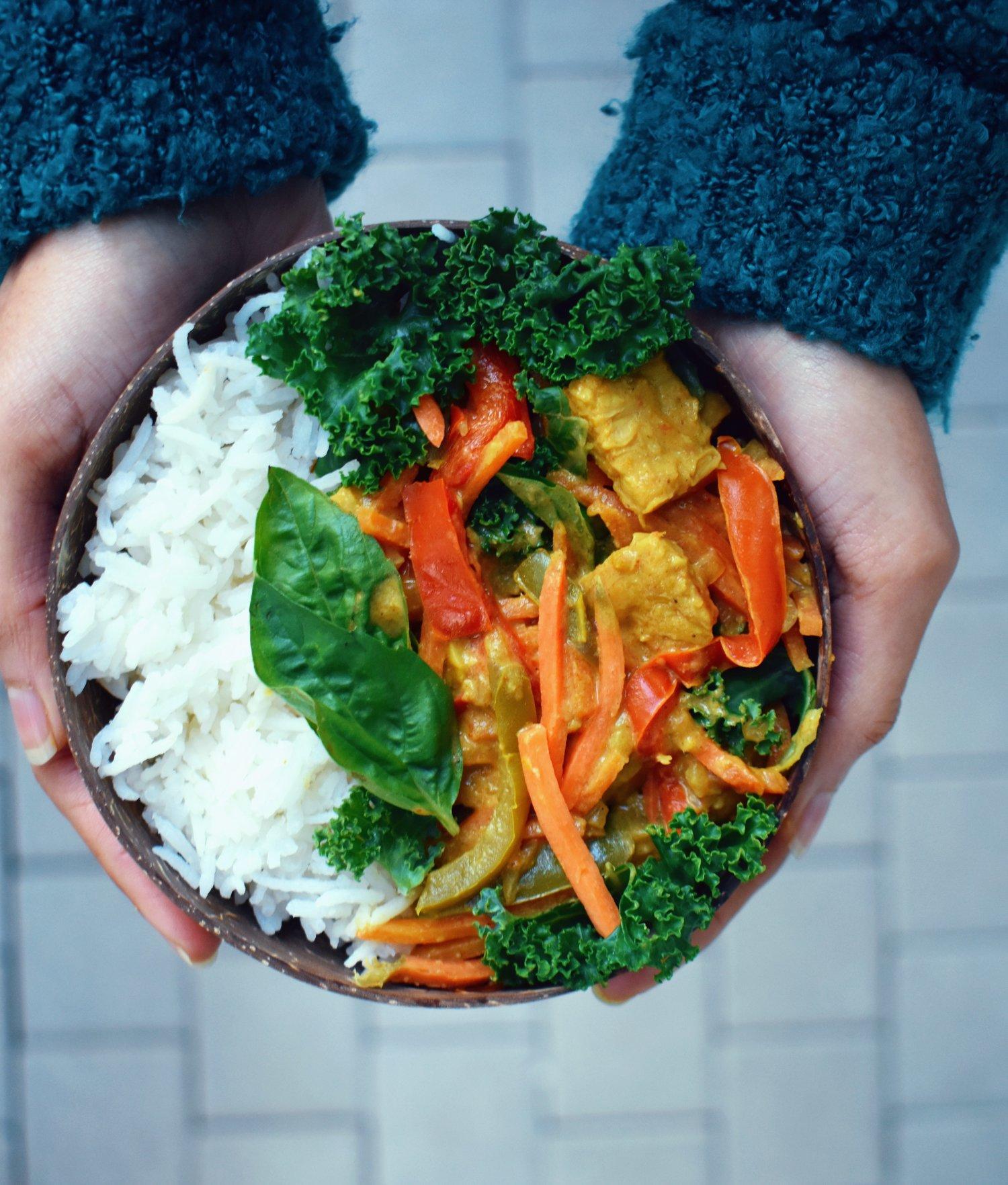 Tempeh Thai Green Curry