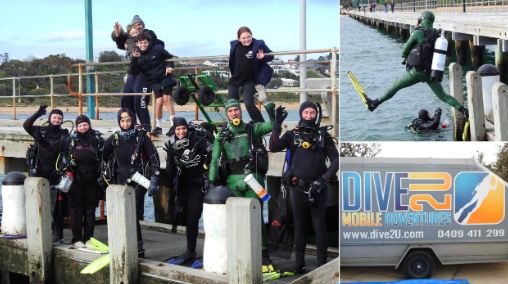 The incredible divers in action.