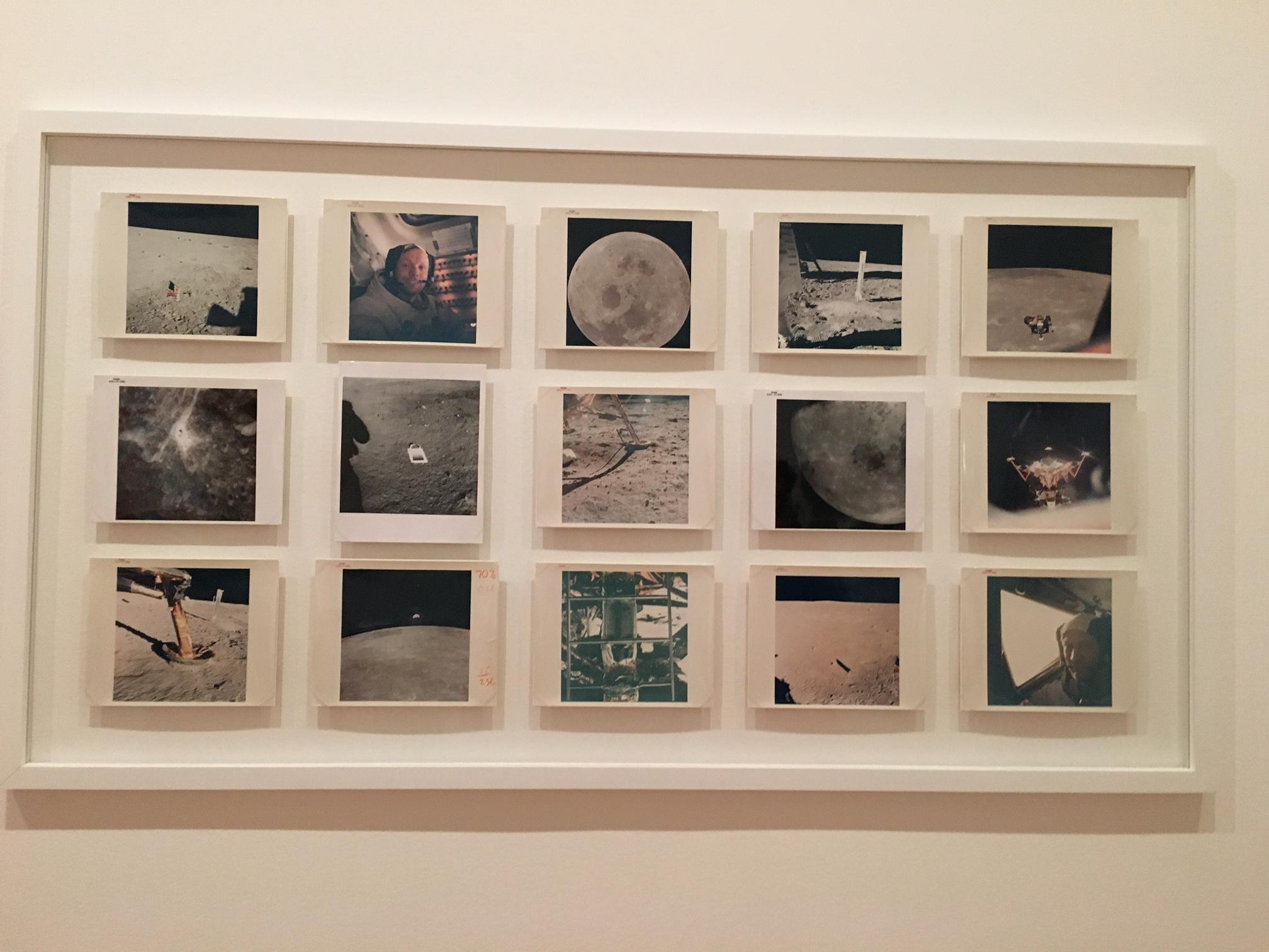 Vintage NASA Photographs displayed at MoMA, New York (2016)