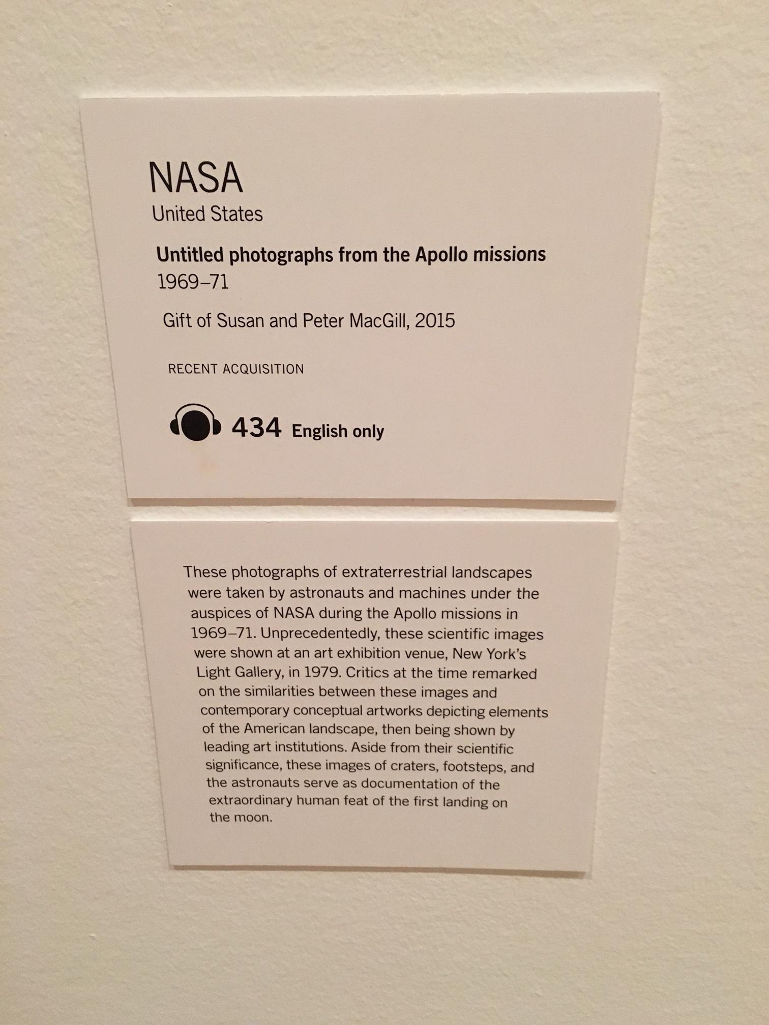 Display Caption, MoMA, New York (2016)