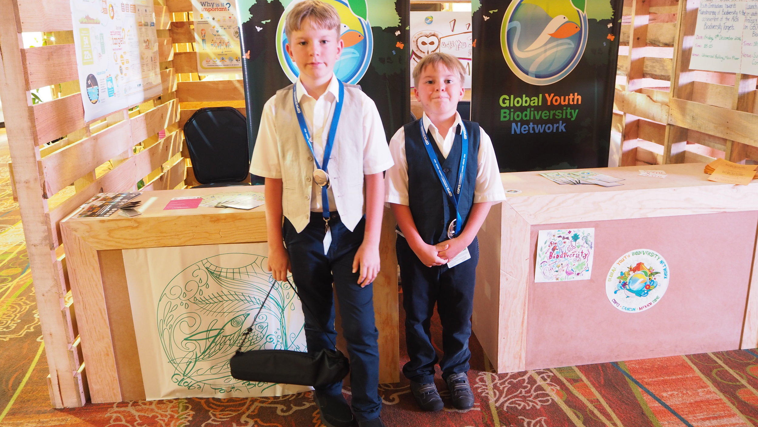 Child Author Jona David (left) and Child UN SDG Ambassador Nico Cordonier-Gehring (right)