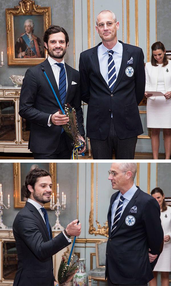 """Vid en ceremoni i december 2016 på slottet, får Marcus ta emot  Prins Bertils och Prinsessan Lilians idrottsstipendium  av Prins Carl Philip, för sitt engagemang inom svensk fäktning. Under utdelningen får Prins Carl Philip en gåva till Prins Alexander i form av en florett av plast, med förhoppning om att den ska glädja och inspirera Prins Alexander till framtida intresse för fäktsporten. """"Det skulle värma mitt fäkthjärta om Prins Alexander i framtiden skulle vilja prova på fäktning på Lidingö Fäktklubb. Familjen Bernadotte har stolta fäkttraditioner. Carl Philips farfar Prins Gustaf Adolf var svensk mästare i fäktning och tillika Carl Philips faster Prinsessan Birgitta"""", säger Marcus Rönnmark."""