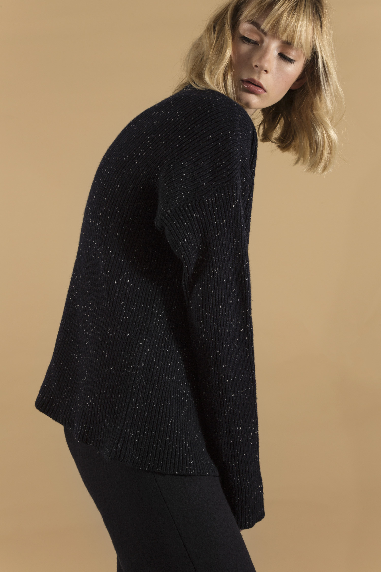 Philippa sweater navy and Alice culottes, close up.jpg