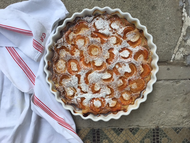 Aux Bulles Champagner Clafoutis Abricots